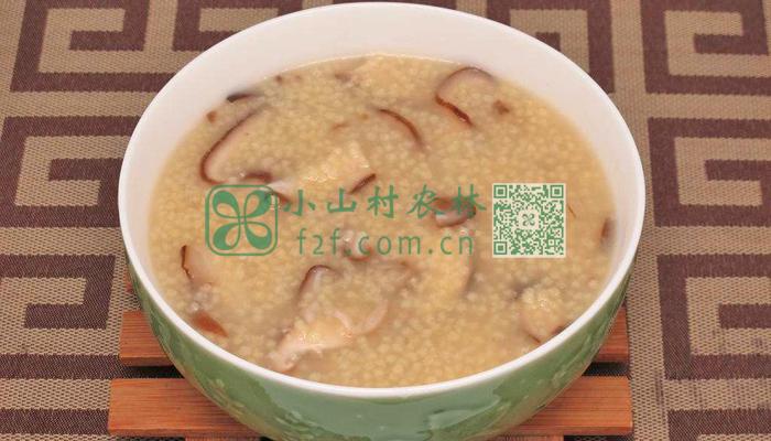 小米香菇粥图片