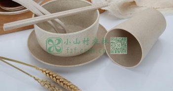 小麦秸秆餐具图片